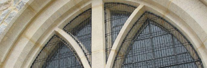 Aiano woven mesh church window guards