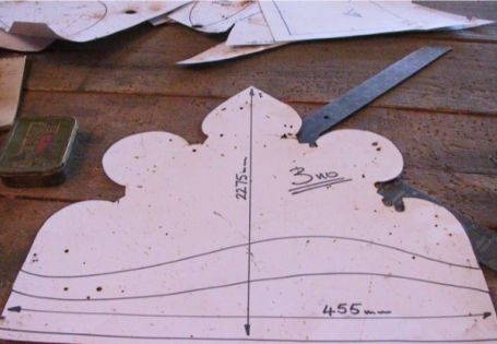 Measurements and templates for church window guards