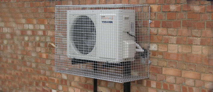 Aiano wire mesh air conditioning guard with mounting brackets