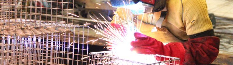 Aiano welder fabricating wire guard