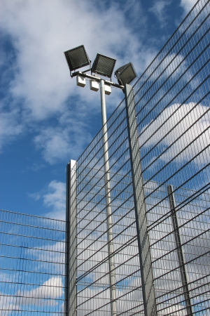 AIANO wire mesh guards were fixed to each floodlight