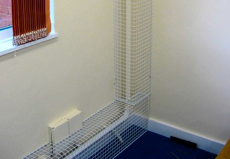 AIANO wire mesh pipe guards for schools and churches