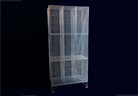 Aiano's wire mesh lockers are a perfect storage solution for schools