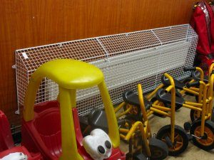 AIANO wire mesh guards for schools are often necessary to meet health and safety requirements