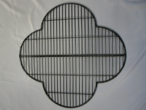 Hand-crafted welded mesh black quatrefoil guard for St Swithin's Church
