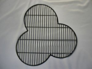 Hand-crafted welded mesh black trefoil guard