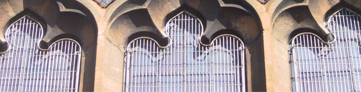 Aiano stainless steel weld mesh window guards at St Alban's church in north London