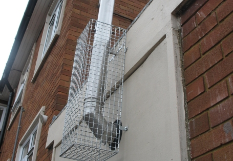 AIANO makes flue guards and pipe guards for the exterior of buildings