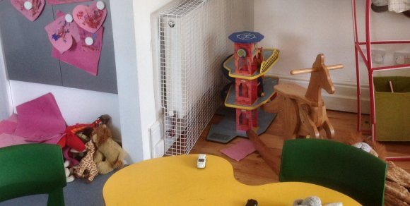 AIANO wire mesh radiator guards were installed in a nursery in East London