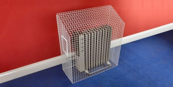 AIANO wire guards for portable heaters with stabilizers to ensure that minimum clearance is maintained between the heater and the guard