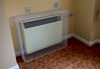 AIANO often supplies wire mesh guards for health and safety to retirement homes
