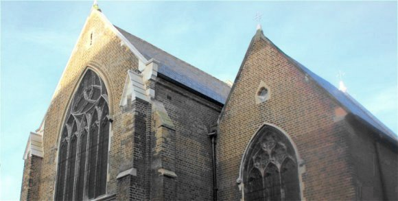 Complex church window guards for St. Peter the Apostle, Woolwich