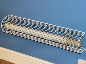 AIANO tubular heater guards for thermostatic heaters installed on Dimplex ECOT2FT