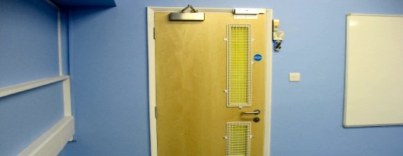 AIANO wire mesh window guards for a school in Greenwich