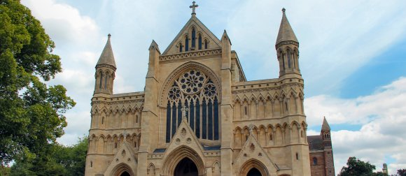 Bespoke floodlight guards for St Alban's Cathedral