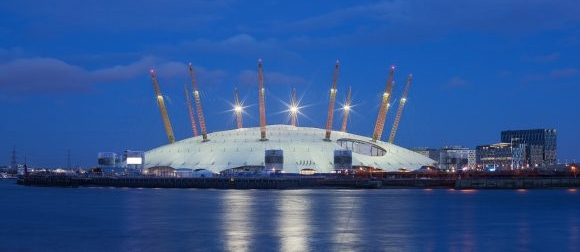 AIANO fluorescent light guards for the 02 Arena in London