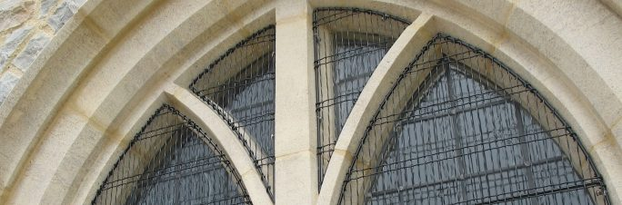 Aiano woven mesh church window guards