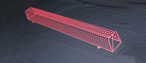 Aiano bespoke pink fluorescent light guard