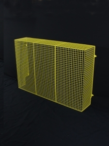 Aiano brightly coloured wire guards include this  radiator guard powder coated in canary yellow.