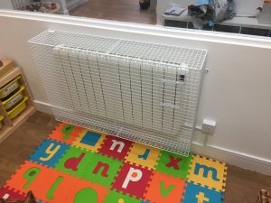 AIANO installed wire mesh electric radiator guards for Imagination Preschool
