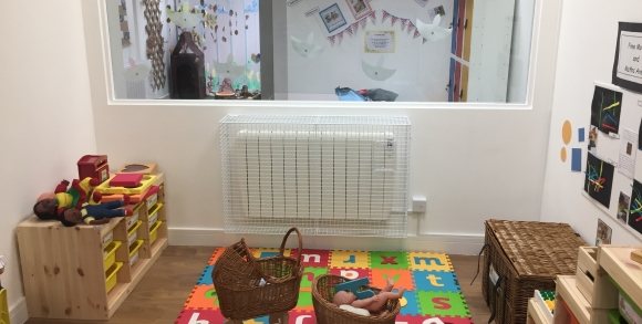 AIANO Wire mesh electric radiator guards for Imagination Preschool