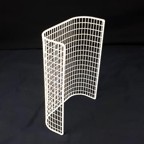 STG12/LK – thermostatic tubular heater guard back view