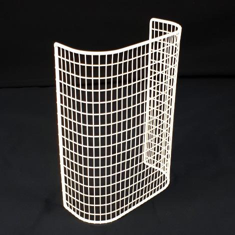 STG12/LK – thermostatic tubular heater guard upright view