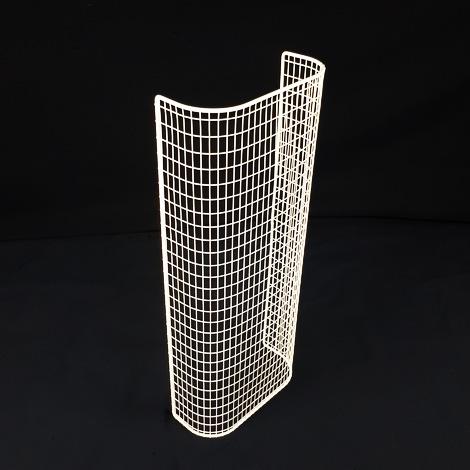 STG22/LK – thermostatic tubular heater guard upright view